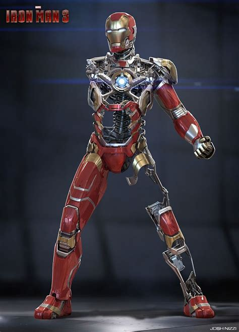 3d Origami Cyborg iron 3 armor concepts robots cyborg and armor