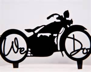 Motorcycle Decorations Bicycle Cake Topper Etsy