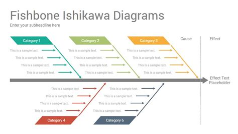 ishikawa template powerpoint fishbone ishikawa diagrams powerpoint template designs
