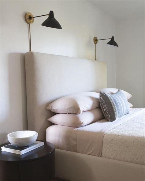 master bedroom inspiration sconces  headboard