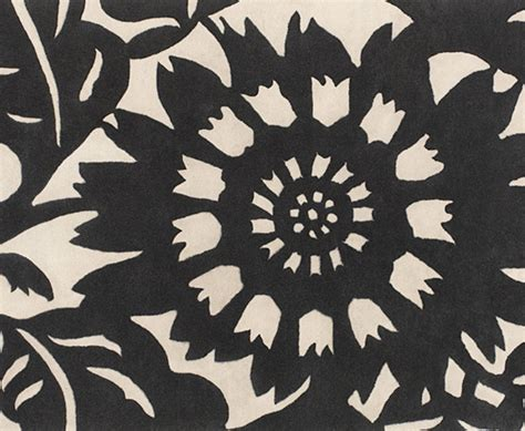 Black And White Floral Rug by Black Rugs The Perfect Pick For Modern Apartments