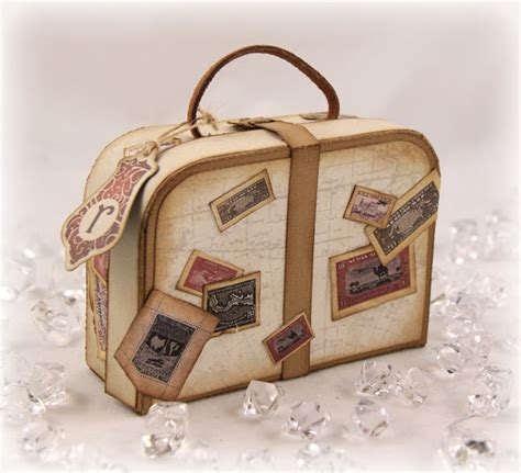 Suitcase Origami - st talk with tosh money filled vintage suitcase