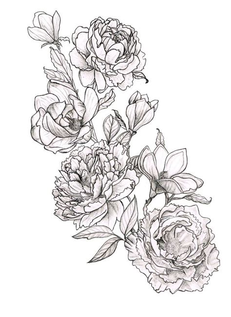 peony tattoo design peonies and magnolias tattoos magnolia