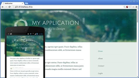 yii2 default layout file yii2 theme factory zen default responsive