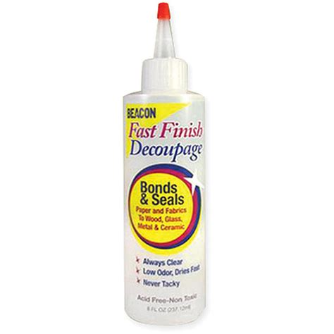 Decoupage Sealant - fast finish decoupage sealer 8 ounces walmart