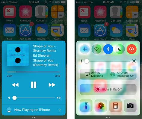 control center themes ios 9 customize your ios 10 control center with ccplus