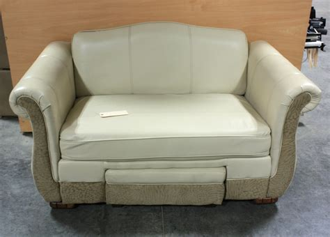 rv couches used rv furniture used leather suede flexsteel loveseat with
