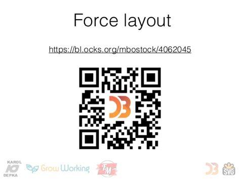 javascript force layout d3 js and svg