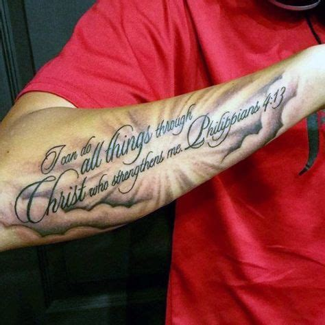 four arm tattoos for men 40 philippians 4 13 designs for bible verse