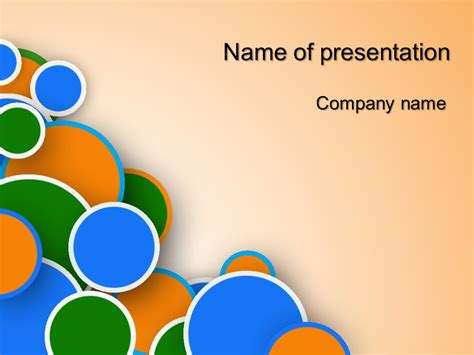 template presentation powerpoint free rings powerpoint template for presentation