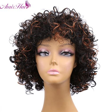 short wrap wigs for african american cheap afro kinky synthetic none lace front wig african