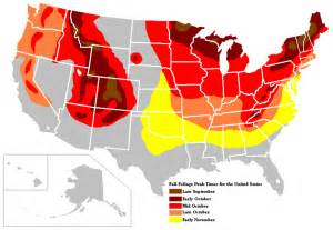 us fall leaf color map fall rv travel tips harvest time and make for