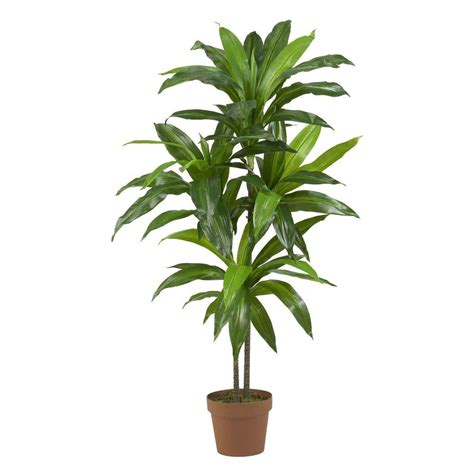 silk plants nearly natural real touch 48 in h green dracaena silk