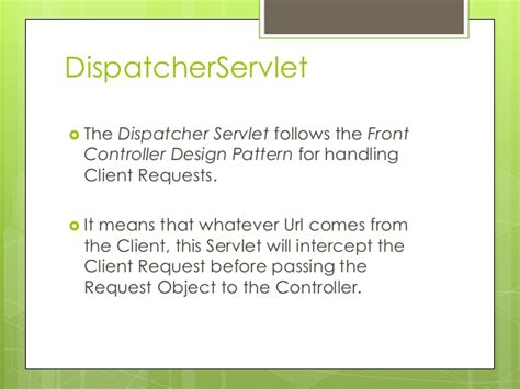 design pattern of dispatcherservlet spring web mvc