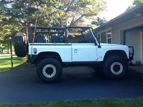land rover defender 90 lifted purchase used 1995 land rover defender 90 rock crawler v8