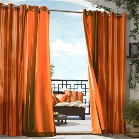 Orange Curtains Gazebo Solid Indoor Outdoor Window Panel Orange