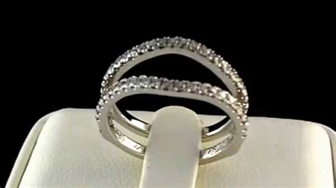 18k white gold brilliant metro wedding ring guard