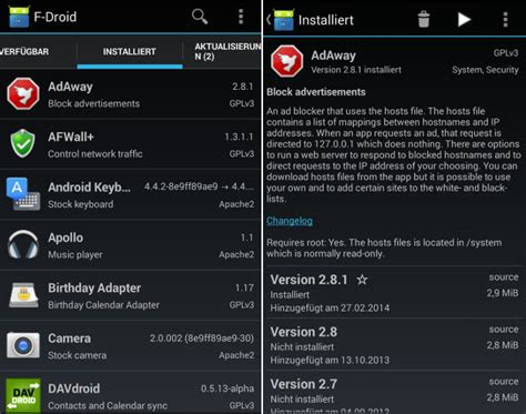 f droid apk f droid und afwall android ohne teil4 kuketz it security