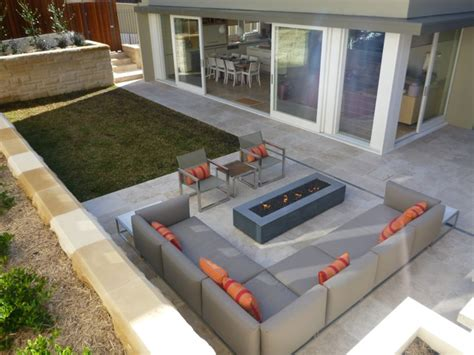 outdoor pits sydney feature project modern hardscape in sydney australia