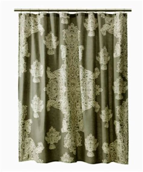 threshold medallion shower curtain threshold large gray medallion ivory fabric shower curtain