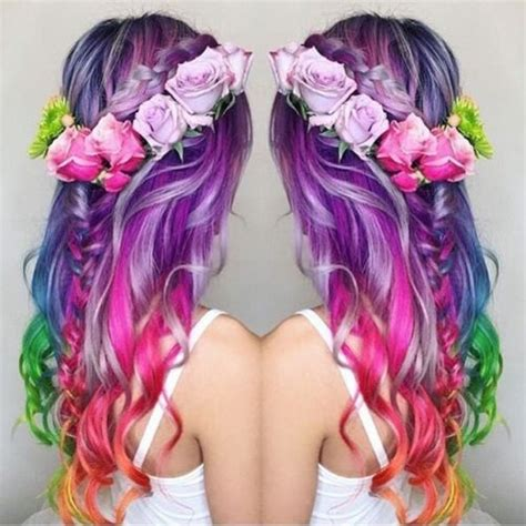rainbow hairstyling 1000 ideas about hair on hair