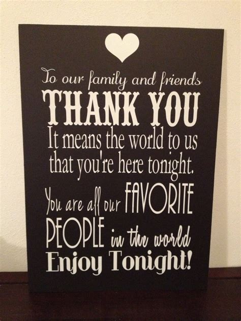 Thank You Letter Sign Wedding Sign Thank You Note