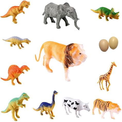 12pcs Pet Animal 12pcs farm animal plastic dinosaur figure classic zoo toys gift for children drop