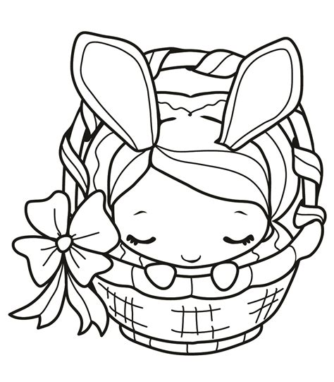 Girl Bunny Coloring Pages   easter colouring bunny girl coloring page