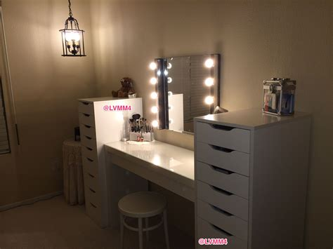 makeup vanity table with lights ikea my vanity is finished ikea malm dressing table 149