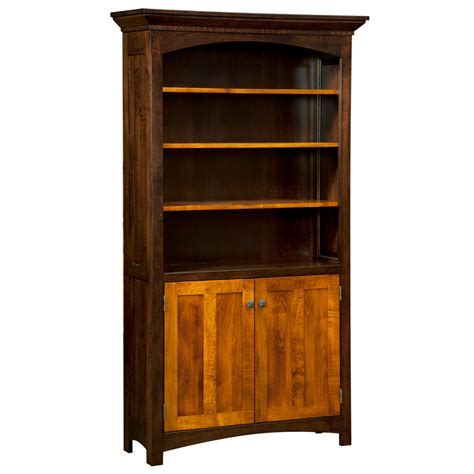 amish bookshelves oakwood bookcase with doors amish bookcases amish furniture shipshewana furniture co