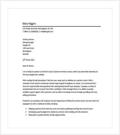 cover letter customer service pdf 35 cover letter template free premium templates