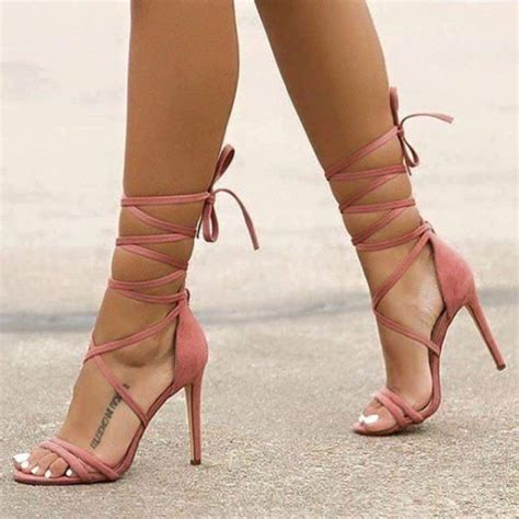 Stiletto Sandals Club Pumps pink soft strappy sandals stiletto heels open toe