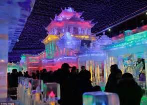 new year celebration in beijing lantern festival multi coloured sculptures