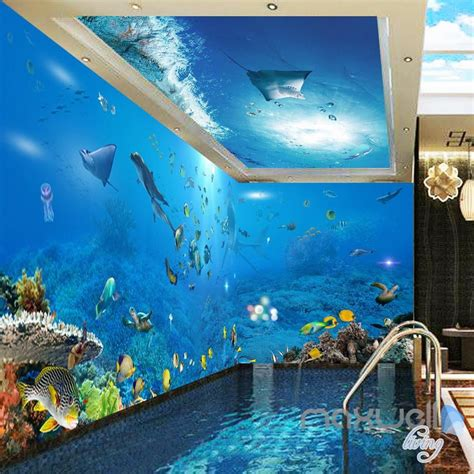 wallpaper 3d toilet bathroom 3d wallpaper white coral under the sea 00026