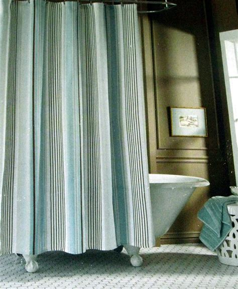 taupe striped curtains fieldcrest luxury stripe blue taupe brown fabric shower