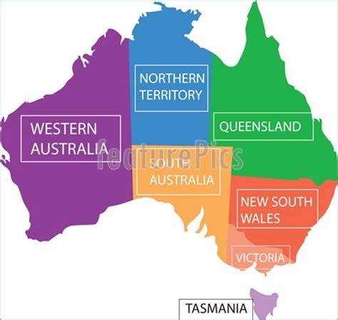 australia province map illustration of australia provinces map