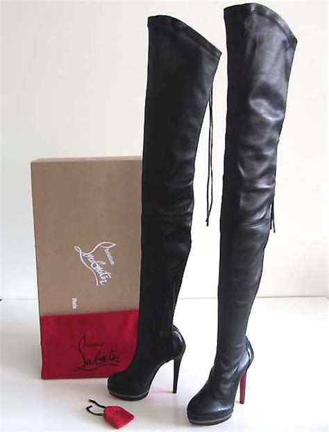 christian louboutin thigh high boots new christian louboutin thigh high platform zip boots 36 5