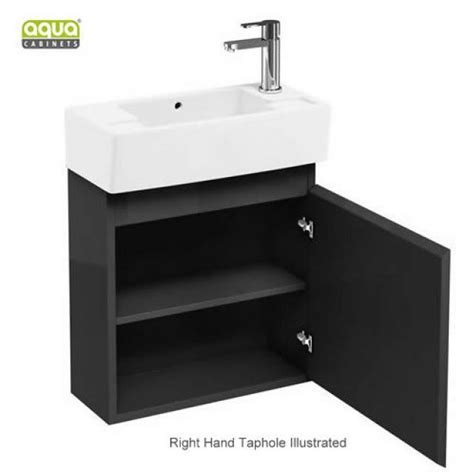 aqua cabinets compact cloakroom wall hung vanity unit uk