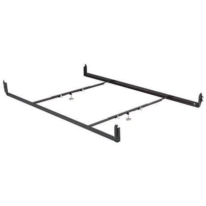 bed frame rail cl queen hook in steel bed frame with 2 cross support bars