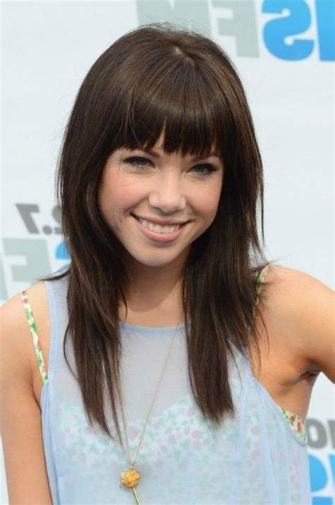 best 25 center part hairstyles ideas on pinterest 15 collection of long hairstyles layers with bangs