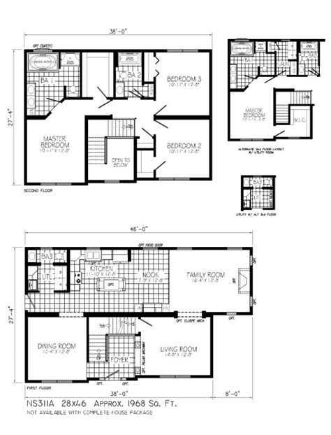 a christmas story house floor plan ns311a excalibur by mannorwood homes two story floorplan
