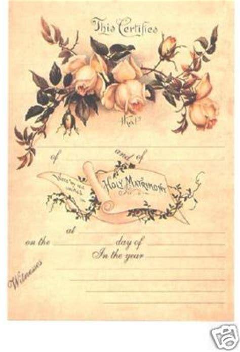 framehousegallery replica  marriage certificate