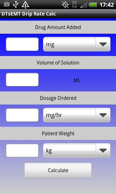 calculator online mod iv drip rate calculator android apps on google play