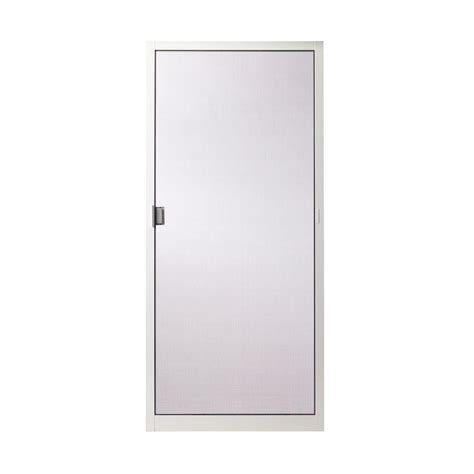 aluminum patio screen doors andersen 35 in x 78 in 200 series white aluminum sliding