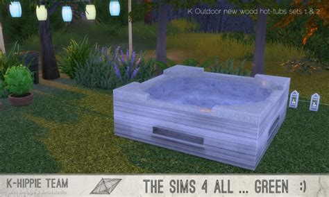 outdoor  wood hot tubs  sets     hippie sims  updates