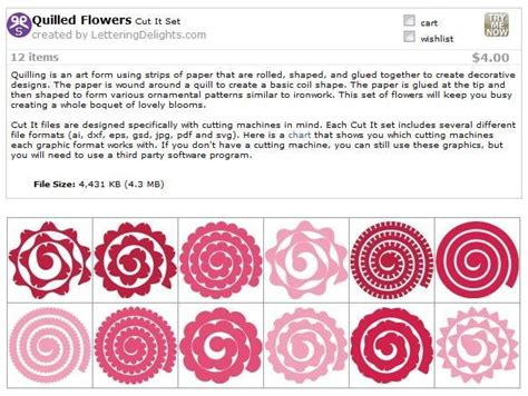 rolled paper flower pattern image result for cricut templates cricut felt flowers
