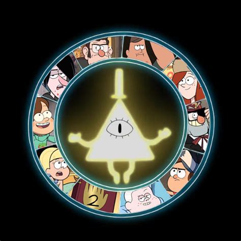gravity falls bill cipher wheel people on the cipher wheel image gravity falls mod db