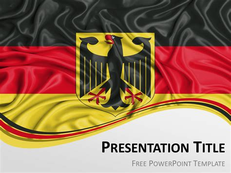 Germany Flag Powerpoint Template Presentationgo Com Germany Powerpoint Template