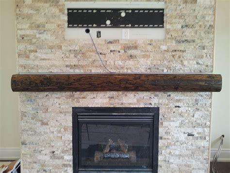 Fireplace Mantel Beam by Oak Barn Beam Mantel Rebarn Toronto Sliding Barn