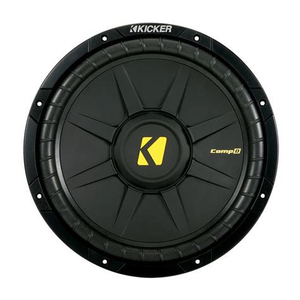 Speaker Subwoofer Kicker kicker cwd12 compd series 12 quot 300 watt rms dual 2 ohm